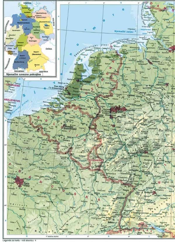 Karta Njemacke Geografska Karta